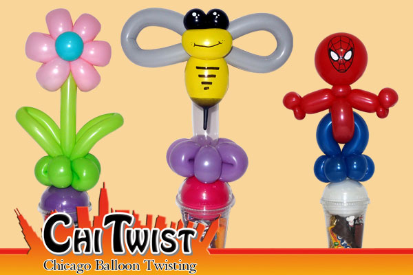 Flower Bee Spiderman Candy Cup Balloons