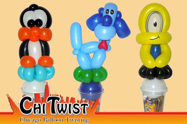 Penguin Puppy Minion Candy Cup Balloons