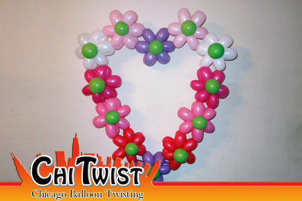 Flower Heart Balloon