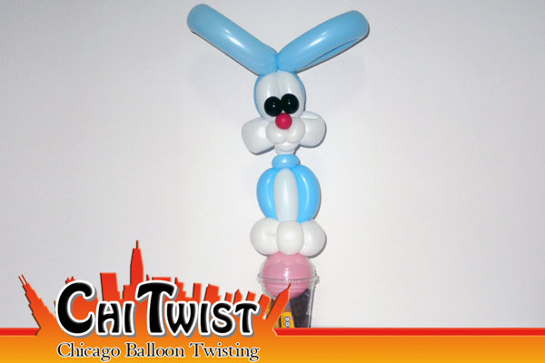 Bunny Candy Cup Easter Balloon