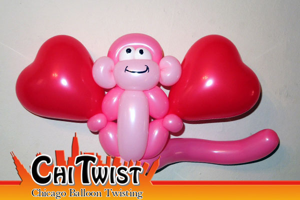 Love Monkey Valentine's Day Balloon