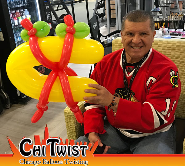 chicago blackhawks balloon